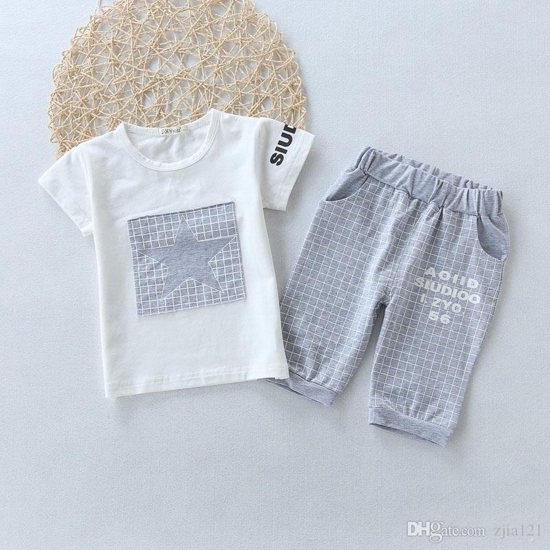 8361f19d4616 Baby Boy Clothes Brand Summer Kids Clothes Sets T-shirt+Pants Suit ...