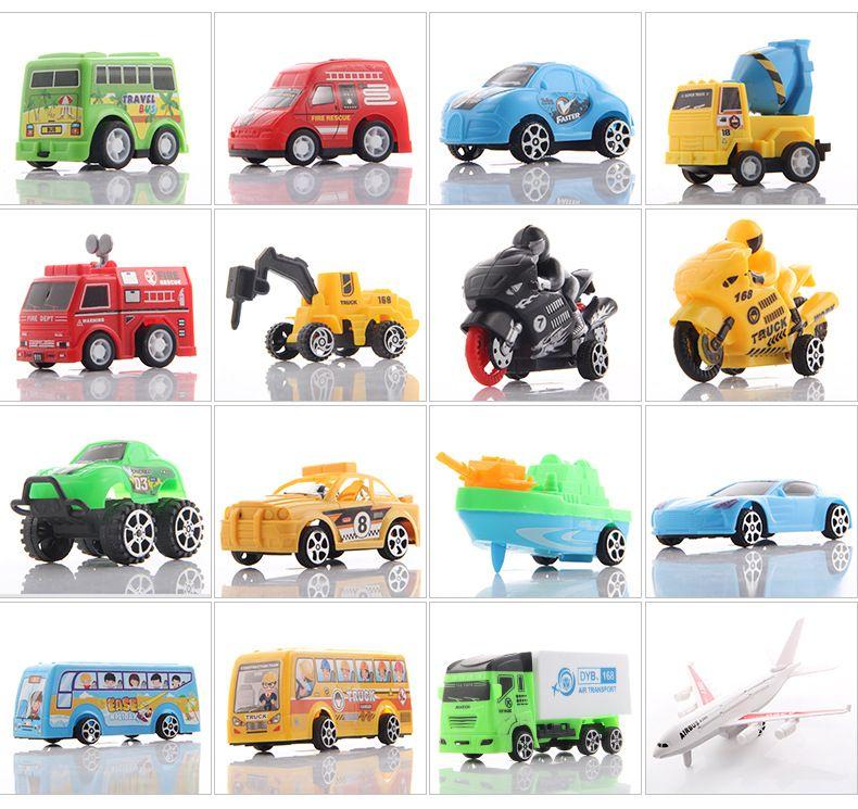 Wholesale Best Christmas Birthday Gift Creative Model Toy Car Childrens Mini Cartoon Plastic