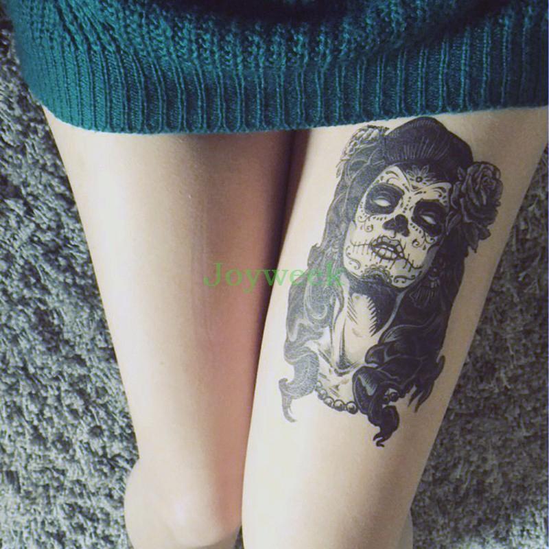 Etiqueta Engomada Temporal Impermeable Del Tatuaje De La Bruja Del