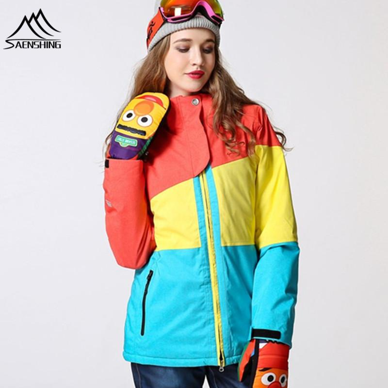 e396776239 2019 Snowboard Jacket Women Ski Jacket Waterproof Super Warm Snow Coats For  Female 30 Degree Breathable Skiing Snowboarding Jackets From Hineinei