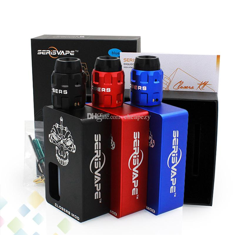 Original Closers BF kit caixa por Serisvape Vaporizador Caixa Mod Preto Azul Vermelho 3 Cores com 8 ml de silicone garrafa E Cigarro DHL Livre