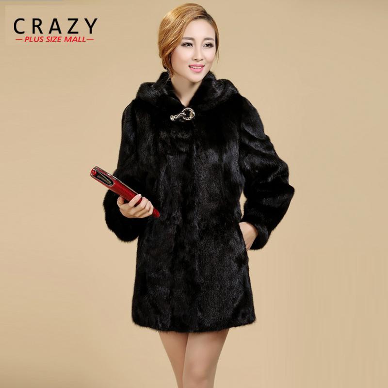 Nouveau 2018 Femmes Plus La Taille Femmes Vêtements 5XL 4XL Mode Moyen Long De Luxe Faux Fourrure De Vison Manteaux Noir Blanc Fausse Fourrure Manteau