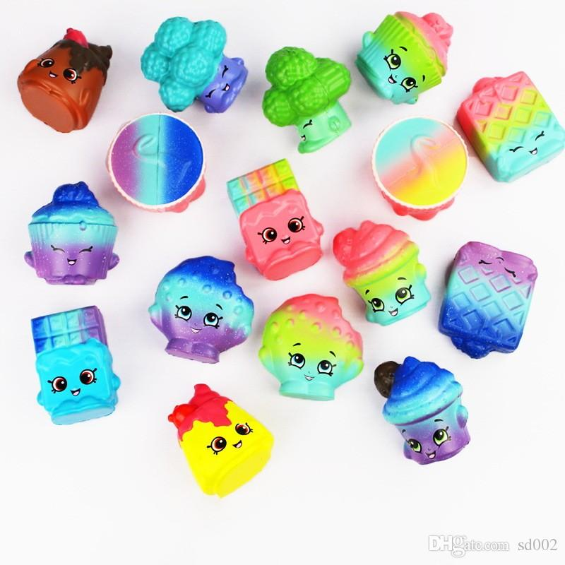 Simulation PU Squishies Vegetables Cake Starry Sky Bread Squishy For Adults Kids Reduce Stress Toy Fashion 12 8bc CB