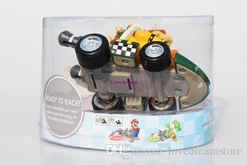 Super Mario Bros Kart Princess Peach Toad Donkey Kong Mario Luigi Yoshi Figures Toy Pull Back Cars Pull-Back Kids Toy Phone Accessories