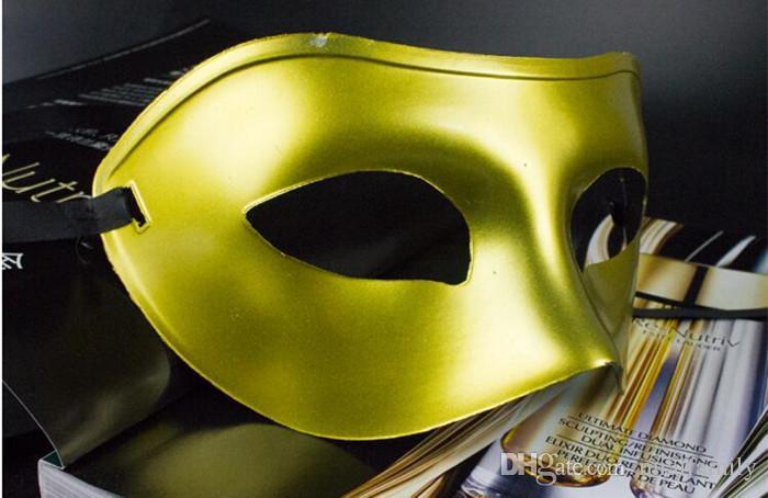 Máscaras de disfraces para hombres Disfraces de lujo Máscaras venecianas Máscaras de disfraces Máscara plástica de media cara Opcional Multi-color Negro, Blanco, Dorado, Plateado
