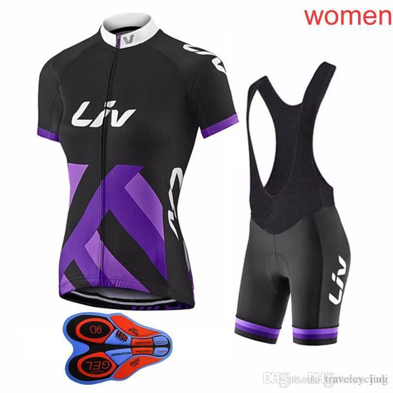 Short Sleeve 2018 Women Cycling Jersey Team LIV Cycling Clothing 9D ... 3e705515f