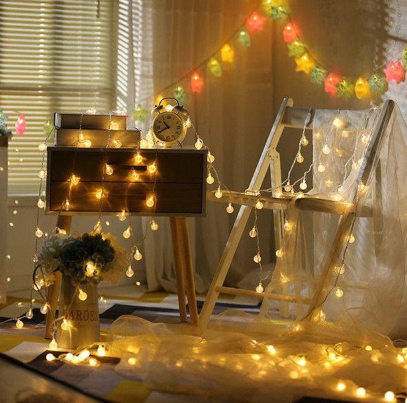 bf6e02cc120 Compre 10 M 100 LED De Cadena Con Pilas Micro Mini Iluminación Alambre De  Plata De Cobre Estrellado Para La Boda De Navidad Decoración De Halloween A   13.07 ...