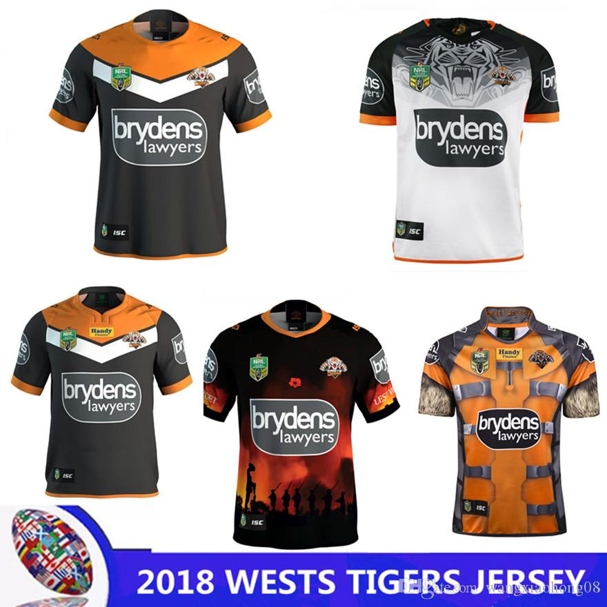 ecc05881e94 WESTS TIGERS 2018 HOME JERSEY WESTS TIGERS 2018 ANZAC ROUND JERSEY ...