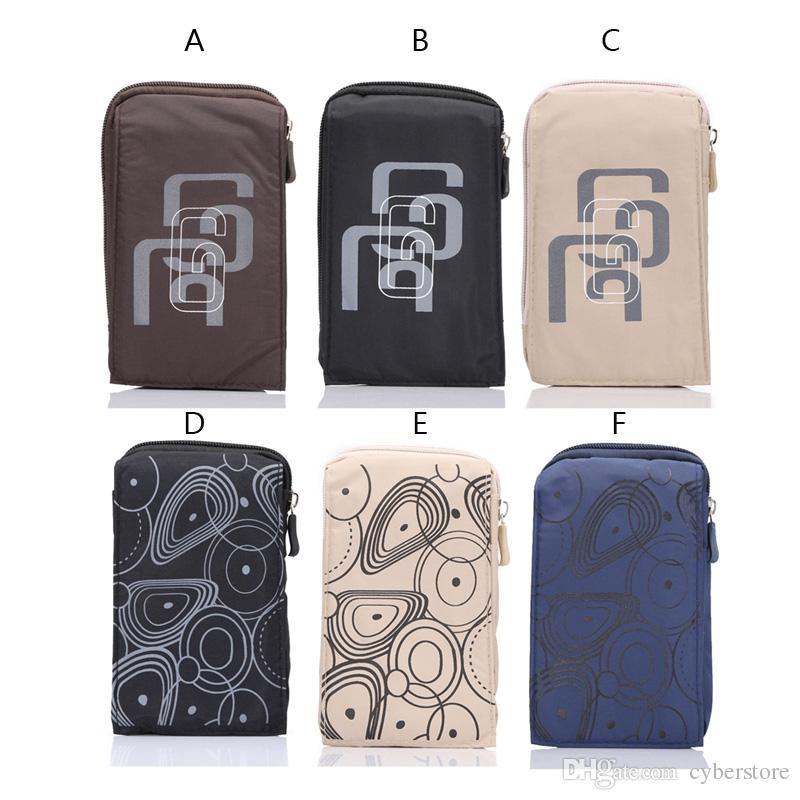 Bolsa de cintura al aire libre universal funda portátil senderismo bolsa de camping bolsa de teléfono móvil billetera monedero cubierta para samsung s9 s8 iphone x 8 7