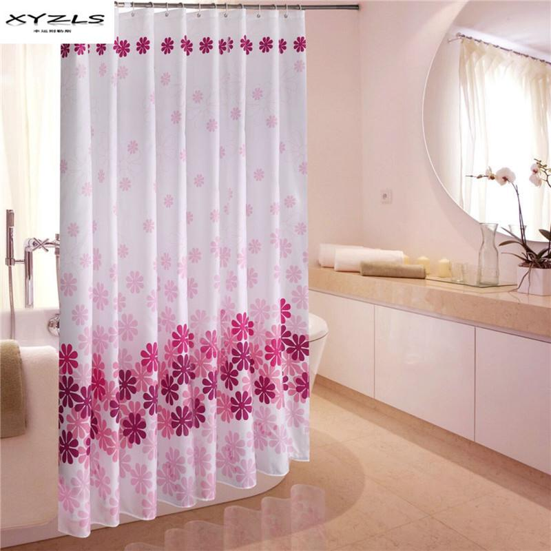 2019 XYZLS Chinese Style Peach Blossom Printed Shower Curtain Eco Friendly Waterproof Bathroom Curtains Polyester For Bath From Harriete