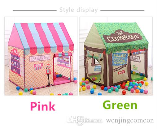Children's Tents Portable kids tent DIY Playhouse Foldable Girl Princess Castle Indoor Outdoor Tents for children kids toys Bread shop