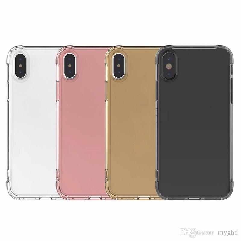 2018 Air cushion shockproof gel tpu sound switching speaker transparent phone case anti shock cover for iphone x 6 7 8 plus s8 R11
