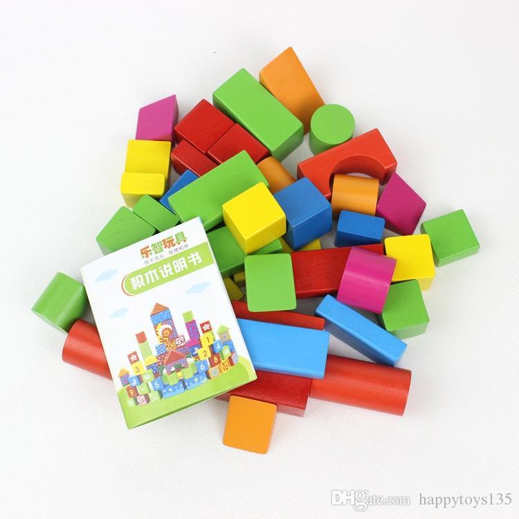 كتل الخشب لعب اطفال ورضيع 1-6 سنوات من العمر فتاة أو فتى اللعب كتل الطوب لطفل هدية الجملة الألعاب التعليمية بين الوالدين والطفل