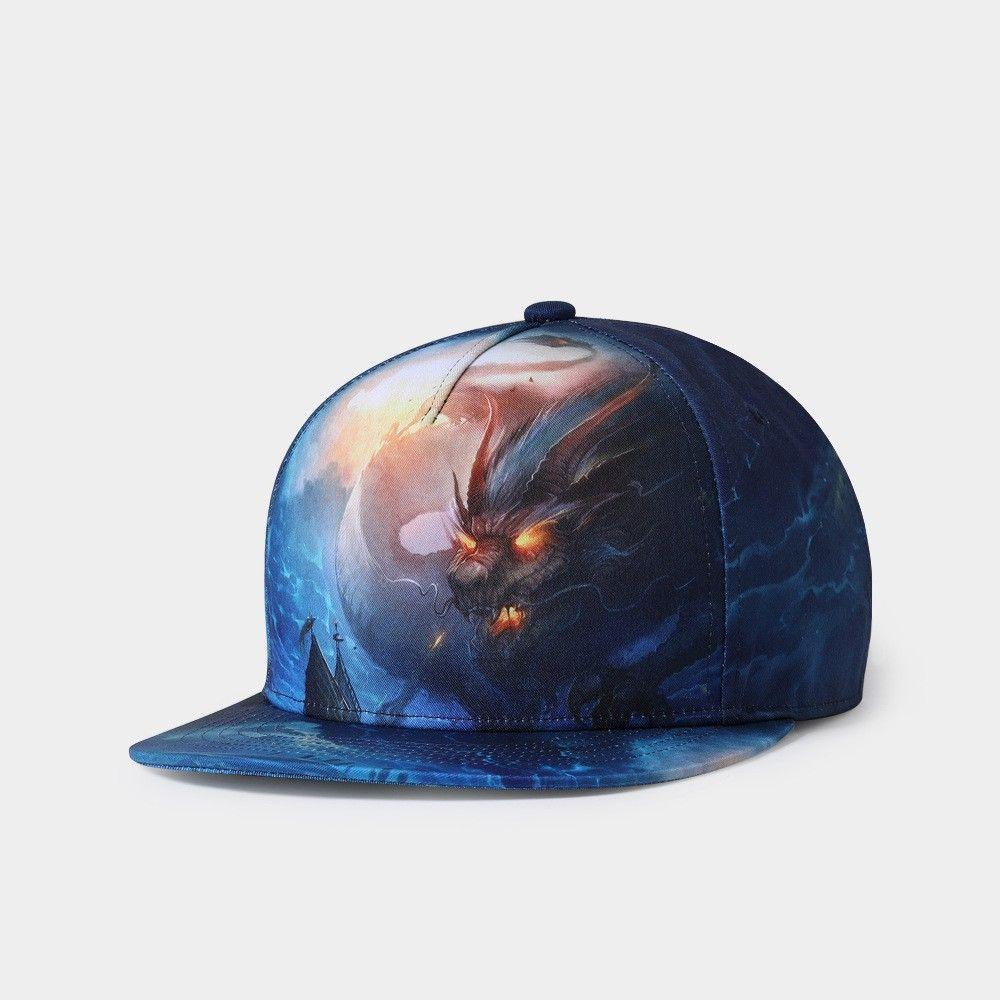 10ddf0330e6 Fashion Design 3D Printing Hip Hop Cap For Men Women Spring Summer ...