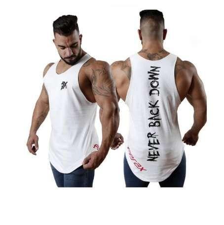 Compre Novos Homens Regatas Ginásio De Fitness Musculação Sem Mangas Camisa  De Algodão Masculina Crossfit Roupas Casual Singlet Vest Undershirt De  Aussiebum ... 7c518cb14c334