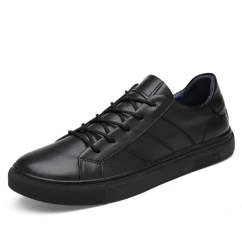 a5f97372770 Compre Casual Primavera Otoño Cordones Zapatos Casuales Mocasines De Cuero  Genuino Hombre Que Se Puede Usar Hombre Zapatos Negros Gris A $63.62 Del  Baby108 ...