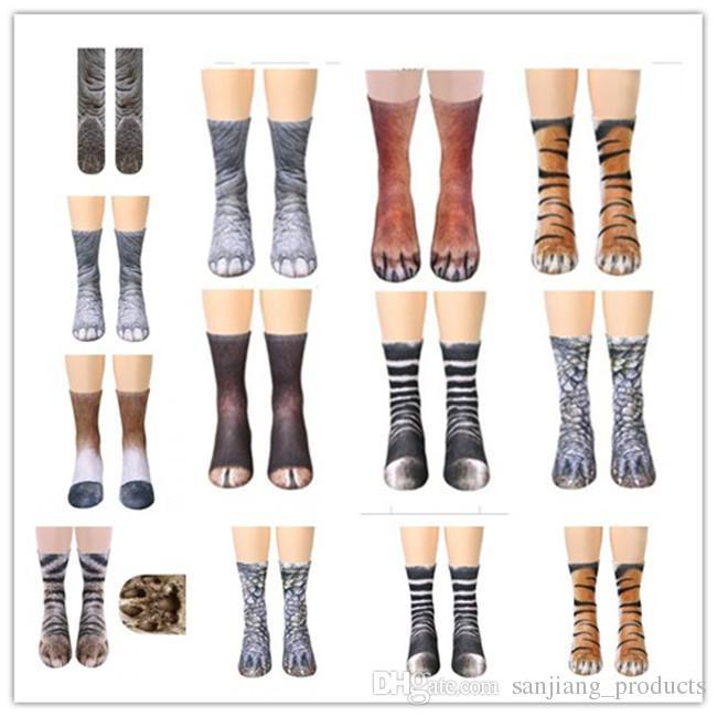 62d95745e23 2019 High Elastic Adult Socks Unisex 3D Printed Animal Paw Crew Sock Big  Kids Leg Warmers Cotton Socks Sports Skateboard Hip Hop Stockings From ...