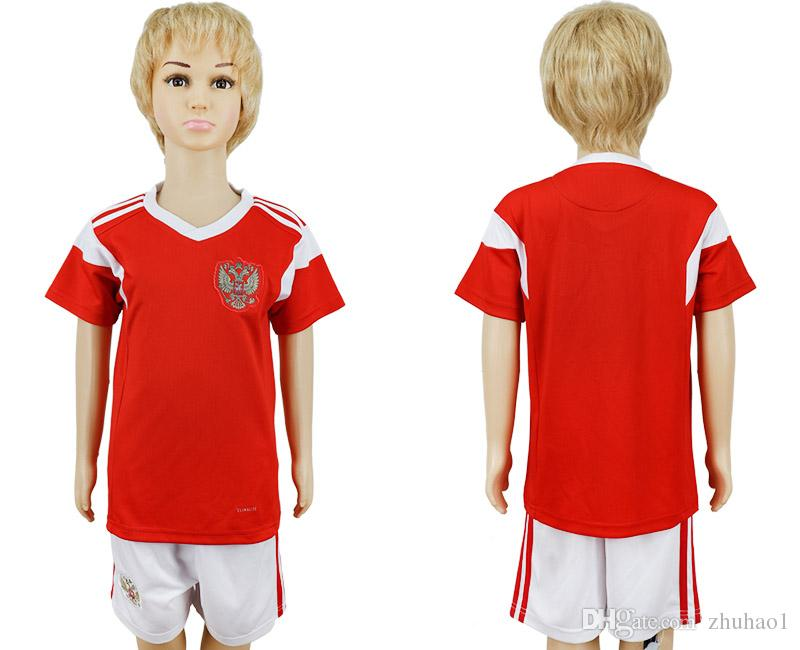 4edc3ab85 2019 2018 World Cup Russia Kids Football Jersey 1819 Igor Akinfeev  Children S Football Sports Suit From Zhuhao1