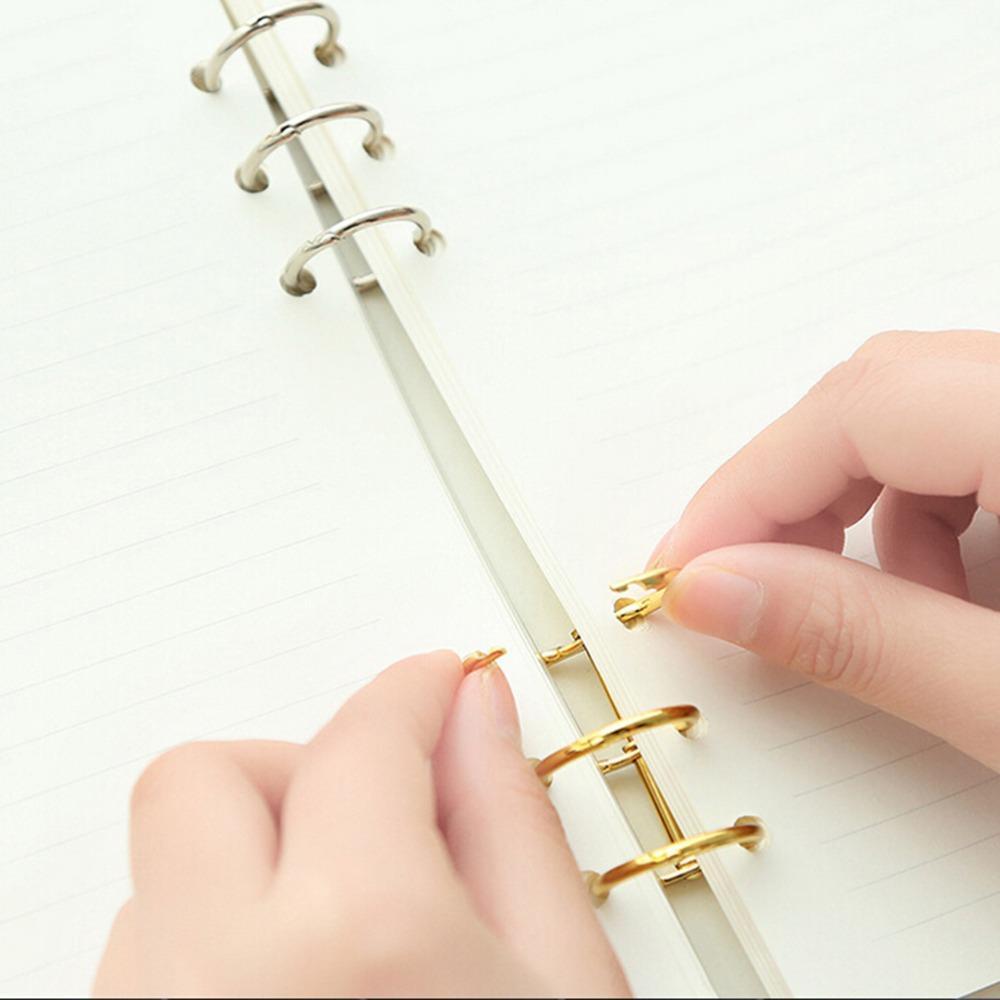 Hot Sale Gold Silver Loose-leaf Iron Split Hinged Rings Scrapbooking Binder Album Calendar Practical Notebook Loose Leaf Binder 3-ring Office & School Supplies