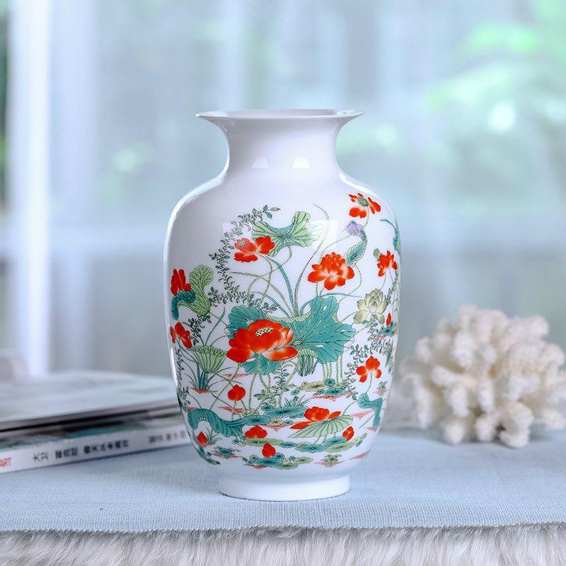 New Chinese Style Vase Jingdezhen Classical Porcelain Kaolin Flower