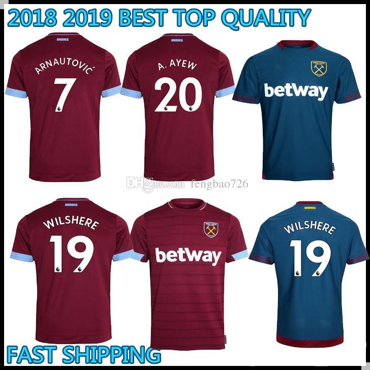 5637eb0f3 ... away blue jersey premier league e3fdb 294d2  spain 2018 2018 2019 west  ham united chicharito black lanzini payet soccer jerseys 18 19 maillots