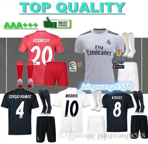 62f35dc25 2019 18 19 Real Madrid Soccer Jerseys Adult Sets 2018 2019 ASENSIO MODRIC  BALE ISCO RAMOS SUAREZ Football Shirts Home Away Men S Kits Customize From  ...