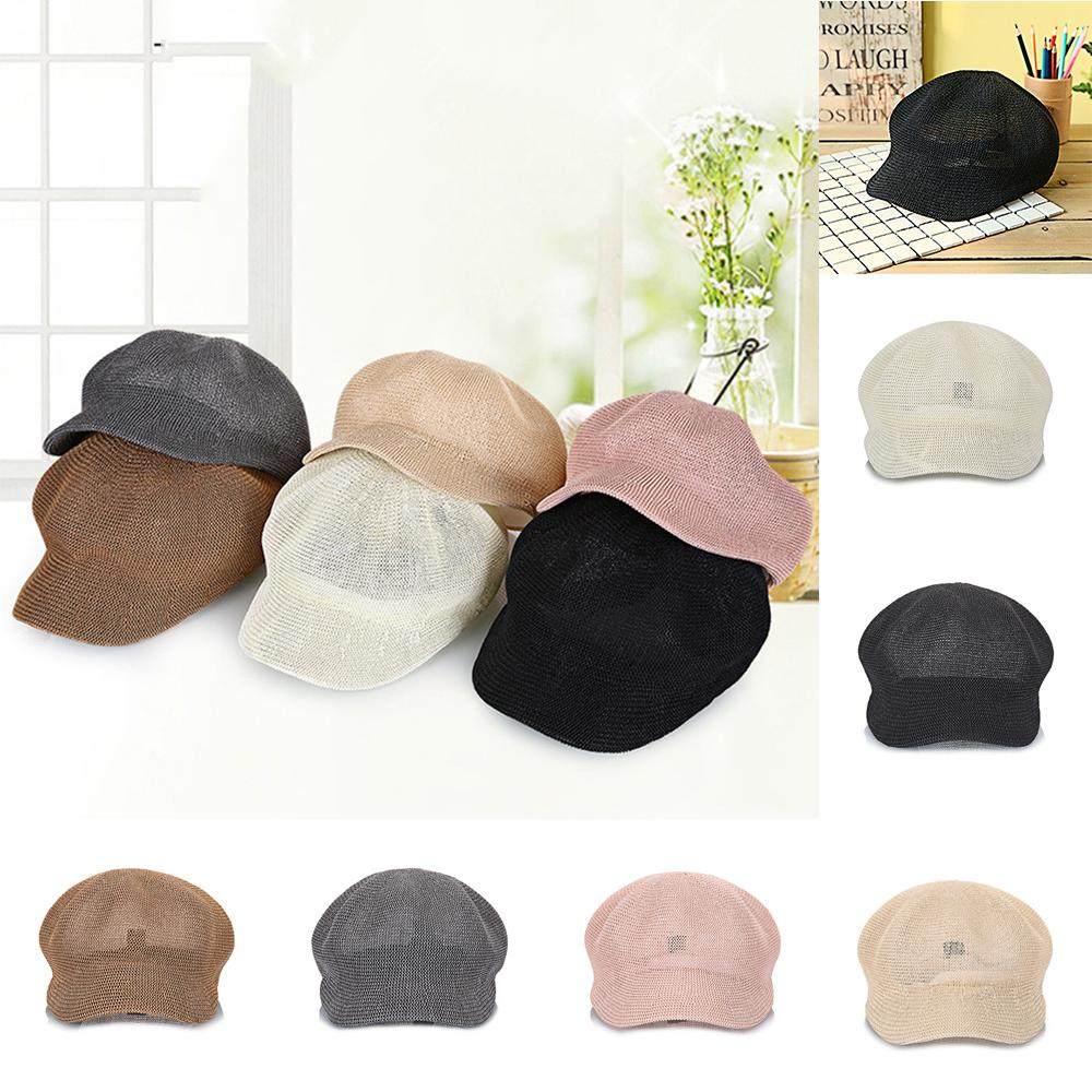 2019 Women S Straw Knit Hat Breathable Octagonal Cap Summer Hat For Women  2018 Fashion Knit Hats Women Leisure Caps S926 From Ruiqi09 3c97d9acf