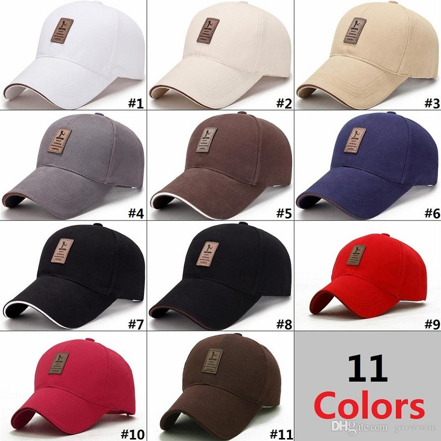8f06a0f1756 Spring And Autumn Simple Business Baseball Cap Men S Outdoor Sun Hat Casual Golf  Hats D0680 1 Fitted Cap Baseball Caps For Men From Growwin