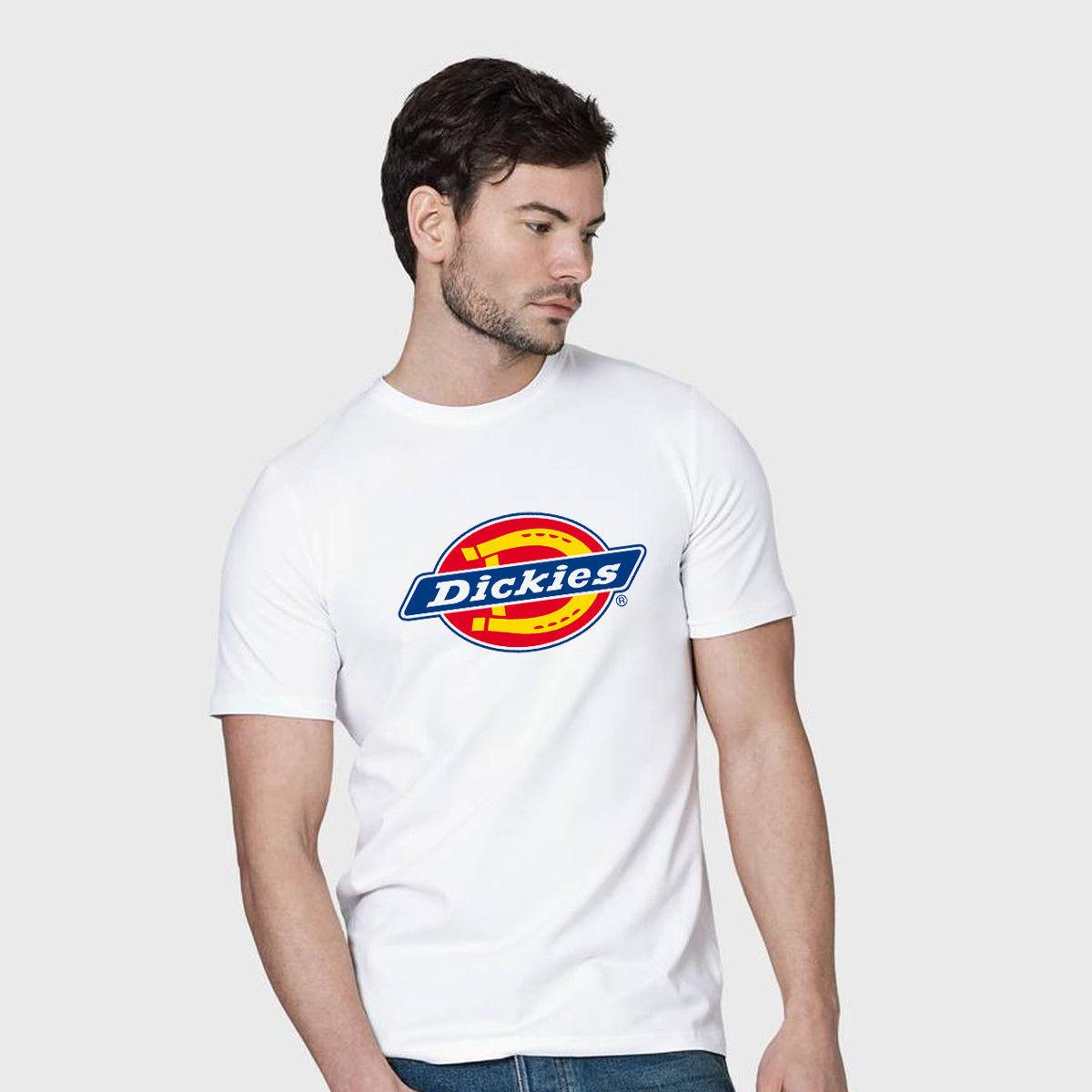 b9979fe8f DICKIES LOGO FAMOUS BRAND men white tshirt 100% cotton short sleeve summer  Hot Sale New Tee Print Men T-Shirt Top