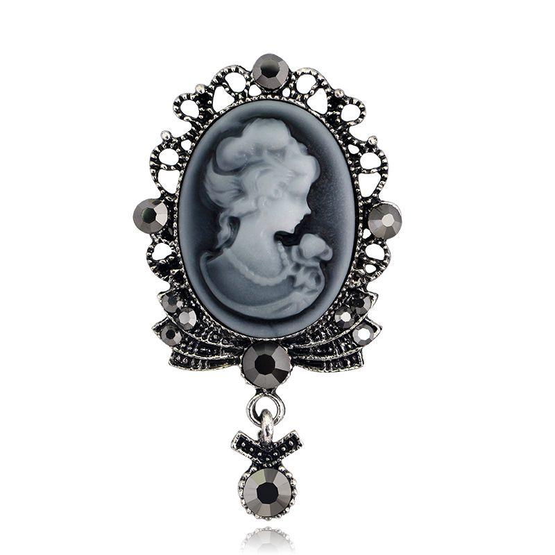 Compre Moda Belleza Cabeza Marco Broche Diamantes De Imitación Oval ...