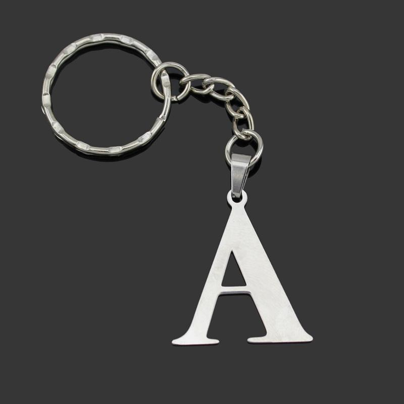 Trusta 2018 Women Men S Fashion Stainless Steel Letter A B C D E F G H I J  K L Jewelry Key Chains Key Rings Charms Gifts YSSZM Leather Key Chain  Leather Key ... 8d5993cfb2
