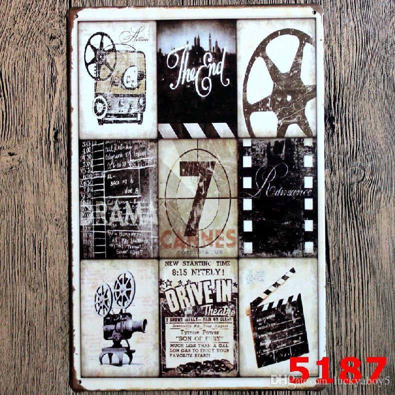 MOVIE SHOOTING Vintage Wall Decor Art Metal Tin Signs Tavern Retro Decorative Plates House Auto Shop Garage Pub Cafe Craft Bar Wall Painting