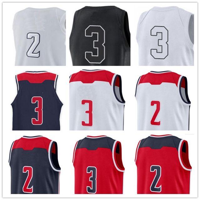 16a7357f72 Compre 2019 Camiseta De Baloncesto Caliente 2 John Wall 3 Bradley Beal 23  Michael Mj Camisetas Blanco Rojo Bule Costura Bordado A  15.23 Del Kailixin  ...