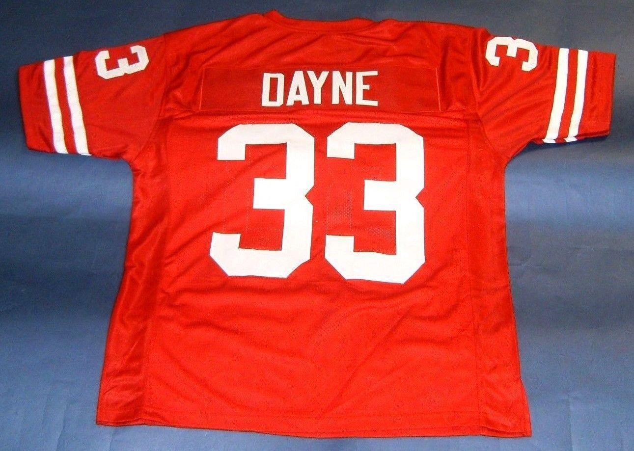f32b618d3 Cheap Cheap Retro  33 RON DAYNE CUSTOM WISCONSIN BADGERS JERSEY HEISMAN  LAST ONE Red Mens Stitching Throwbacks Size S-5XL Football Jerseys