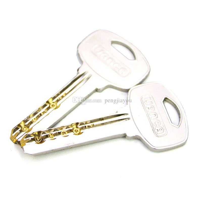 Fechamento prático da prática de Mul-T-Lock - Melhor jogo de treinamento da picareta da selagem para novatos do serralheiro - jogo claro do fechamento da prática com 2 chaves - tudo novo