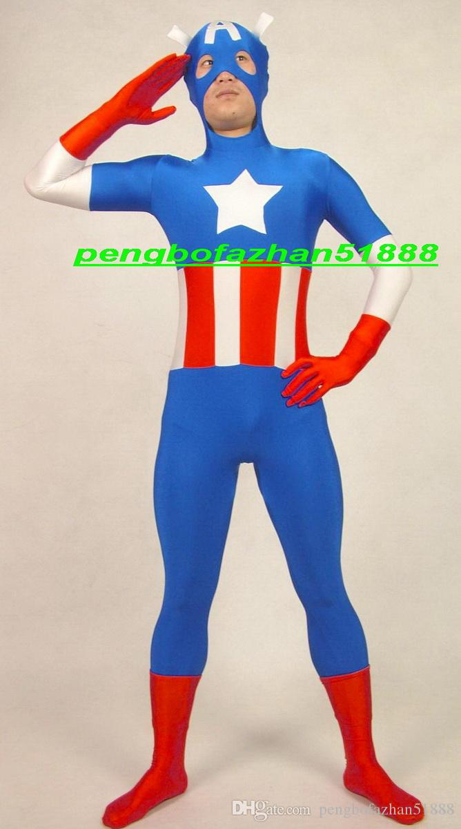 Unisex Superhero Costumes New Lycra Spandex Captain Suit Catsuit Costumes Fantasy Super Hero Captain Suit Outfit Halloween Cosplay Suit P267 Unisex ...  sc 1 st  DHgate.com & Unisex Superhero Costumes New Lycra Spandex Captain Suit Catsuit ...