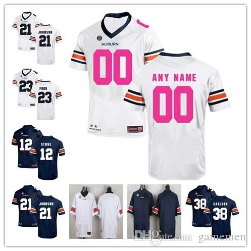 8856e830eee ... 50% off 2018 custom auburn tigers mens college jersey personalized ncaa  stitched navy blue white