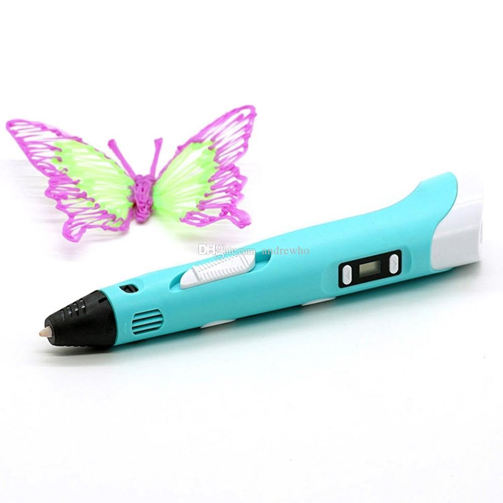 أفضل حاضر تعديل 3d رسم القلم diy 3d طابعة القلم مع شاشة lcd 3d مجسمة الطباعة القلم ألعاب تعليمية للأطفال الموهوبين