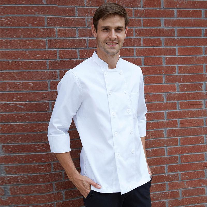 Acquista Uniforme Da Cuoco Abbigliamento Da Lavoro Hotel Ristorante  Grembiule Da Cucina Cameriere Camice Delantal Avental Grembiule Logo A   30.96 Dal Wudee ... 503722e0c738