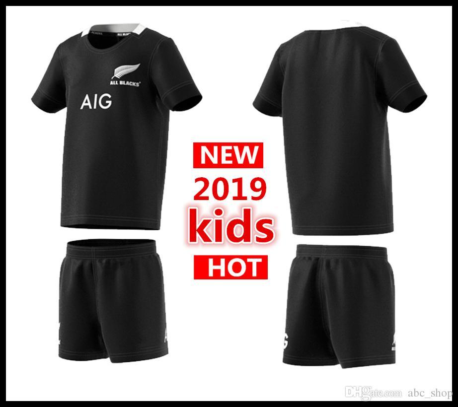 2019 New Zealand All Blacks Kids Mini Kit Home Rugby Jerseys Super ... b0b4f01ba