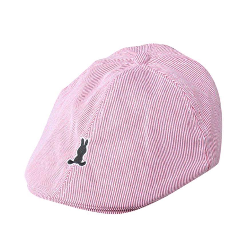 adeeb0546 Beret Cap Kids Baby Boy Girl Coon Striped Beret Cap Newsboy Casquee  Baseball Hat Dropshipping #5-6