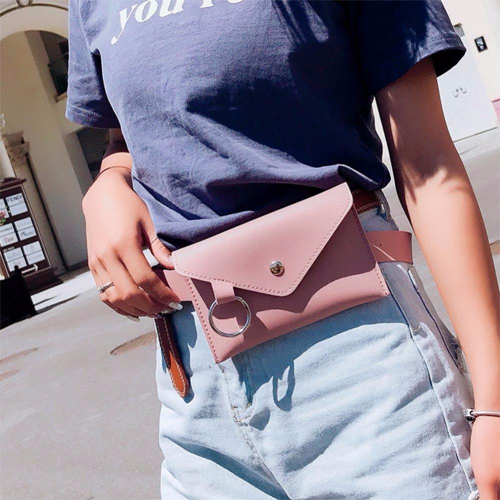 3509a3d15323 Fashion Rivet Lady Waist Pack Women Belt Pouch Bag Mini Designer Phone  Pouch Bags New Envelope PU Leather Belt Pack For Clothing