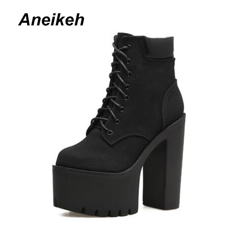 Moda Otoño Altos Invierno Mujer Compre Zapatos Botines Tacones 15cm nwOP0k8