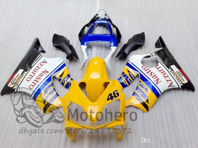 Injection Mold gifts For HONDA CBR600F4i 2001 2002 2003 CBR600 F4i CBR600FS FS 01-03 CBR 600 F4i 01 02 03 600 F4i Fairing Yellow Blue M934f