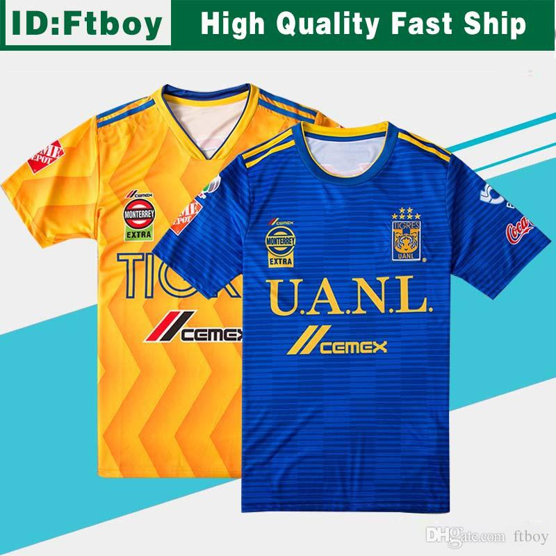 dd985b65761 2019 2018 2019 UANL TIGRES New Third DE LA Soccer JERSEYS 18/19 Mexico Club  LIGA MX Maillot De Foot Home Yellow 6 Star GIGNAC Football Shirts From  Ftboy, ...