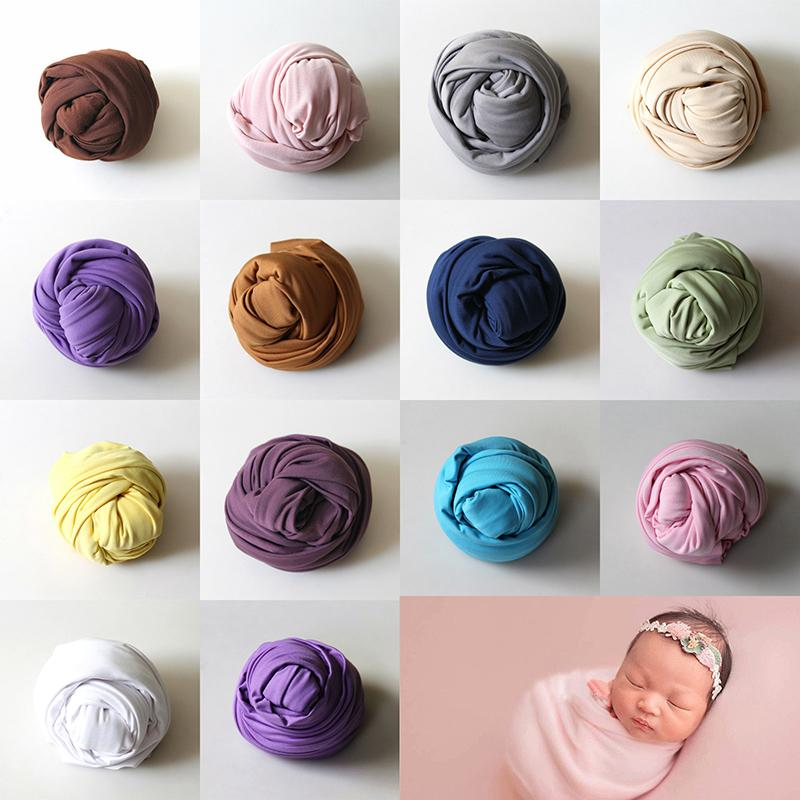 2018 40 160cm Stretch Wrap Newborn Photography Props Accessories