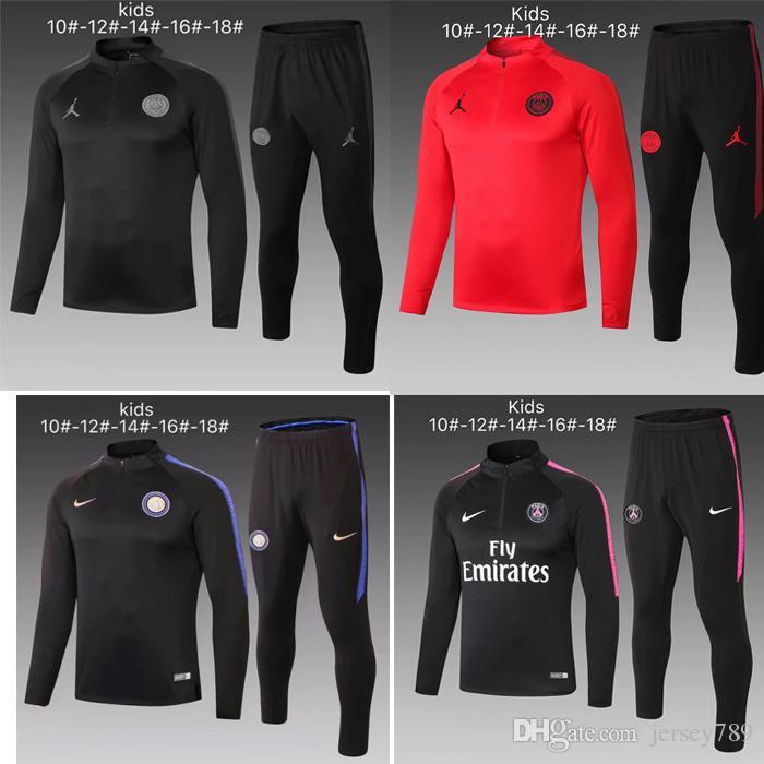 3abf527e0 New Kids Paris Tracksuit 2018-2019 Psg Soccer Jogging Jacket MBAPPE ...