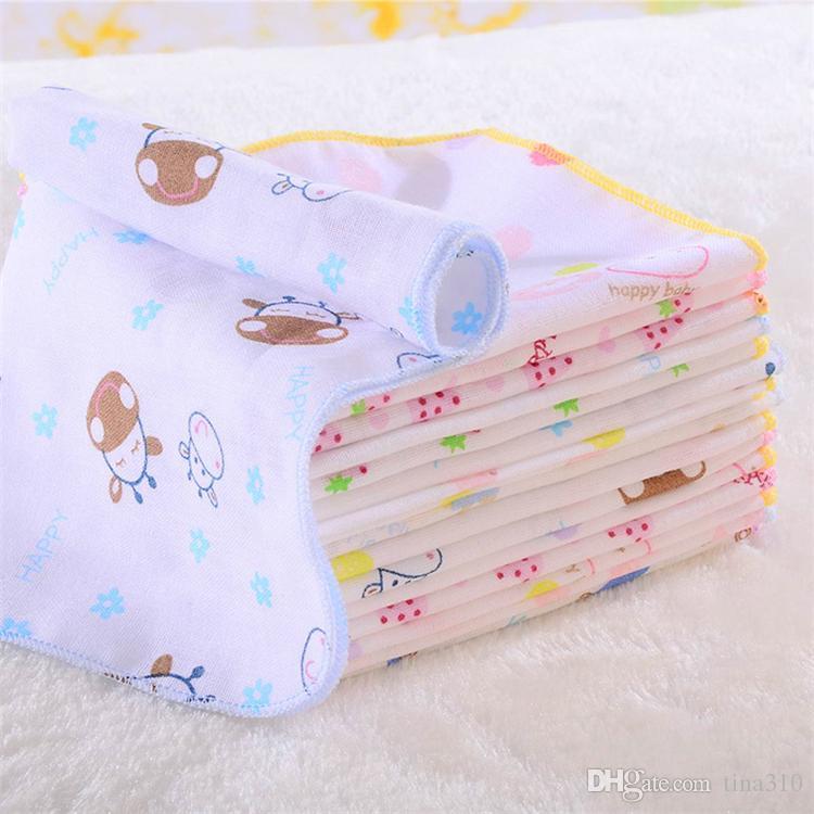 High quality Newborn baby cotton printed gauze square scarf / baby feeding napkin handkerchief Burp Cloths T2I025