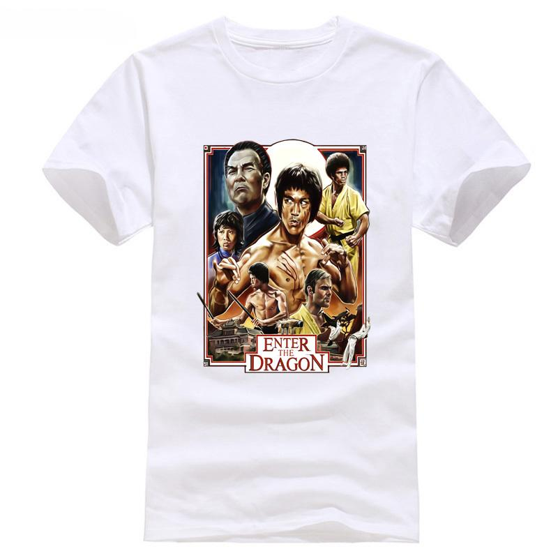 92ad2a57fd 2018 New Arrival T-Shirt Enter The Dragon Bruce Lee T shirt GREEN All Sizes  S - 3XL x New Fashion Men S Short Sleeve Movie Shirt