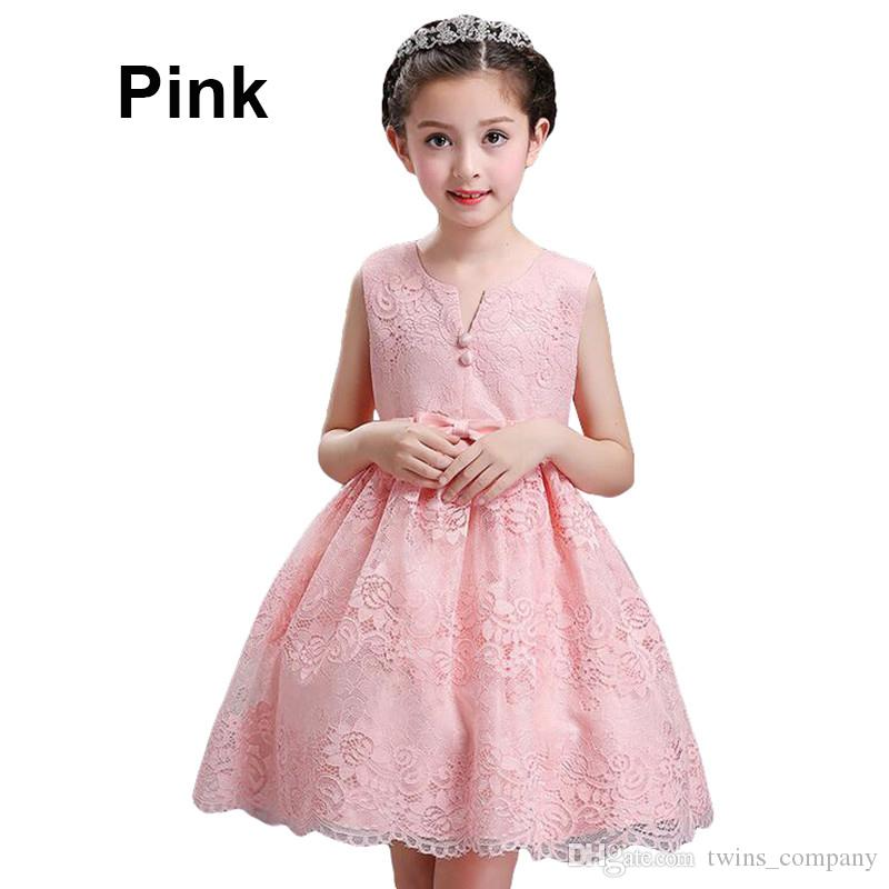 Girl Flower tutu Princess dress Niños infantil vestido de novia Girls Toddler Elegant Vestido Infantil Party Dress 3-10Y